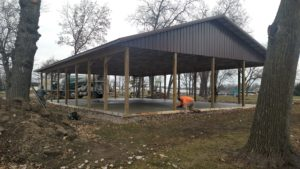 Pavilion Concrete Slab Construction Racine County